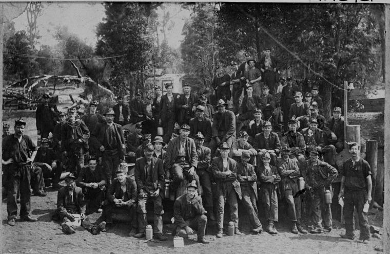 Coal miners, Collie, ca. 1920
