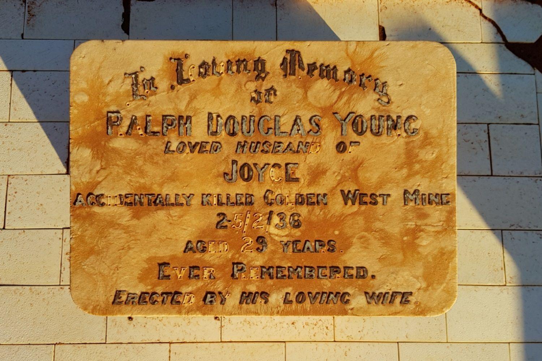 Kalgoorlie Cemetery Ralph Douglas Young - photo Danelle Warnock